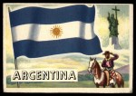 1956 Topps Flags of the World #21   Argentina Front Thumbnail