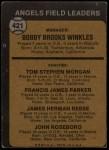 1973 Topps #421 ^ORG^  -  Bobby Winkles / Tom Morgan / Salty Parker / Jimmie Reese / John Roseboro Angels Leaders Back Thumbnail