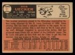 1966 Topps #91 ^TR^ Bob Uecker  Back Thumbnail
