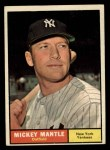 1961 Topps #300  Mickey Mantle  Front Thumbnail