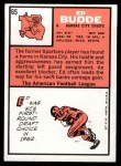 1966 Topps #65  Ed Budde  Back Thumbnail