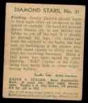 1935 Diamond Stars #31 GRN Kiki Cuyler   Back Thumbnail