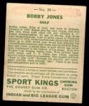 1933 Goudey Sport Kings #38  Bobby Jones   Back Thumbnail