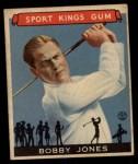 1933 Goudey Sport Kings #38  Bobby Jones   Front Thumbnail