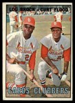 1967 Topps #63   -  Lou Brock / Curt Flood Cards Clubbers Front Thumbnail