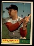1961 Topps #375  Ken Boyer  Front Thumbnail
