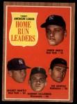 1962 Topps #53   -  Roger Maris / Mickey Mantle / Jim Gentile / Harmon Killebrew AL HR Leaders Front Thumbnail