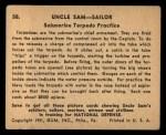 1941 #58   Submarine Torpedo Practice Back Thumbnail