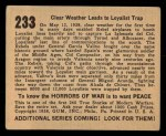 1938 Gum Inc. Horrors of War #233   Clear Weather Leads to Loyalist Trap Back Thumbnail