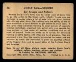 1941 Gum Inc. Uncle Sam Home Defense #52   Ski Troops And Patrols Back Thumbnail