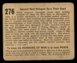 1938 Gum Inc. Horrors of War #276   Spanish Raid Refugees Bury Their Dead Back Thumbnail