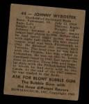 1948 Bowman #44  John Wyrostek  Back Thumbnail