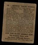 1948 Bowman #48  George Dave Koslo  Back Thumbnail