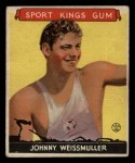 1933 Goudey Sport Kings #21  Johnny Weissmuller   Front Thumbnail