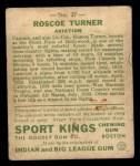 1933 Goudey Sport Kings #27  Col. Roscoe Turner   Back Thumbnail