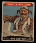 1933 Goudey Sport Kings #27  Col. Roscoe Turner   Front Thumbnail