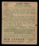 1934 Goudey #89  Linus Frey  Back Thumbnail
