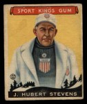 1933 Goudey Sport Kings #47  J. Hubert Stevens   Front Thumbnail