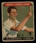 1933 Goudey Sport Kings #46  Ellsworth Vines   Front Thumbnail