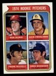 1974 Topps #599 ^WASH^  -  Dave Freisleben / Ron Diorio / Frank Riccelli / Greg Shanahan Rookie Pitchers   Front Thumbnail