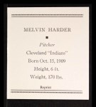 1933 Tattoo Orbit Reprints #30  Mel Harder  Back Thumbnail