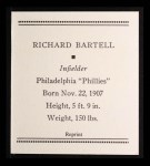 1933 Tattoo Orbit Reprints #4  Dick Bartell  Back Thumbnail