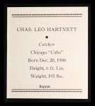 1933 Tattoo Orbit Reprints #31  Gabby Hartnett  Back Thumbnail