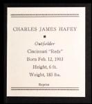 1933 Tattoo Orbit Reprints #27  Chick Hafey  Back Thumbnail