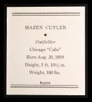 1933 Tattoo Orbit Reprints #14  Kiki Cuyler  Back Thumbnail