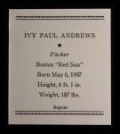 1933 Tattoo Orbit Reprints #2  Ivy Andrews  Back Thumbnail