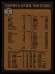 1973 Topps #7   Rangers Team Back Thumbnail