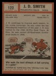 1962 Topps #122  J.D. Smith  Back Thumbnail