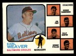 1973 Topps #136 ^ORG^  -  Earl Weaver / George Bamberger / Jim Frey / Billy Hunter / George Staller Orioles Leaders Front Thumbnail