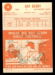1963 Topps #4  Ray Berry  Back Thumbnail