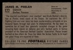 1952 Bowman Small #122  James Phelan  Back Thumbnail