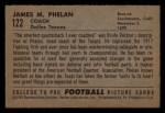 1952 Bowman Small #122  James Phelan  Back Thumbnail