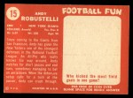 1958 Topps #15   Andy Robustelli Back Thumbnail