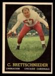 1958 Topps #28   Carl Brettschneider Front Thumbnail