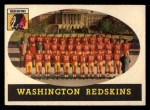 1958 Topps #27  Redskins Team  Front Thumbnail