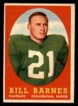 1958 Topps #4  Bill Barnes  Front Thumbnail