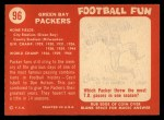 1958 Topps #96   Packers Team Back Thumbnail