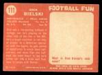 1958 Topps #111   Dick Bielski Back Thumbnail