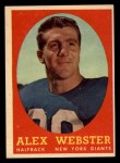 1958 Topps #30   Alex Webster Front Thumbnail