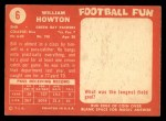 1958 Topps #6   Billie Howton Back Thumbnail