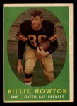 1958 Topps #6   Billie Howton Front Thumbnail