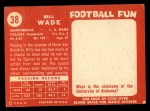 1958 Topps #38   Bill Wade Back Thumbnail