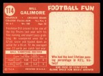 1958 Topps #114   Willie Galimore Back Thumbnail