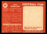 1958 Topps #40  Jerry Norton  Back Thumbnail