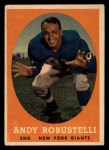 1958 Topps #15  Andy Robustelli  Front Thumbnail