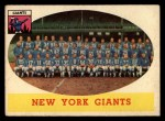 1958 Topps #61   Giants Team Front Thumbnail